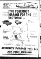 Crisswells Garage advert 27th March 1969
